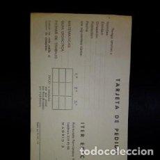 Otros: 1969 TARJETA DE PEDIDO ITER EDICIONES SIN USAR. Lote 236009605