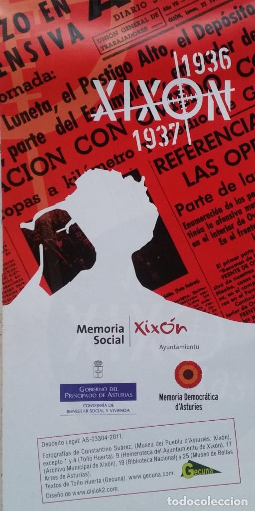DESPLEGABLE UN RECORRIDO POR EL GIJON DE LA GUERRA CIVIL 1936 - 1937 (Coleccionismo para Adultos - Otros)