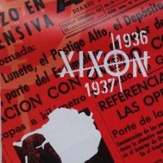 Otros: DESPLEGABLE UN RECORRIDO POR EL GIJON DE LA GUERRA CIVIL 1936 - 1937. Lote 236028255