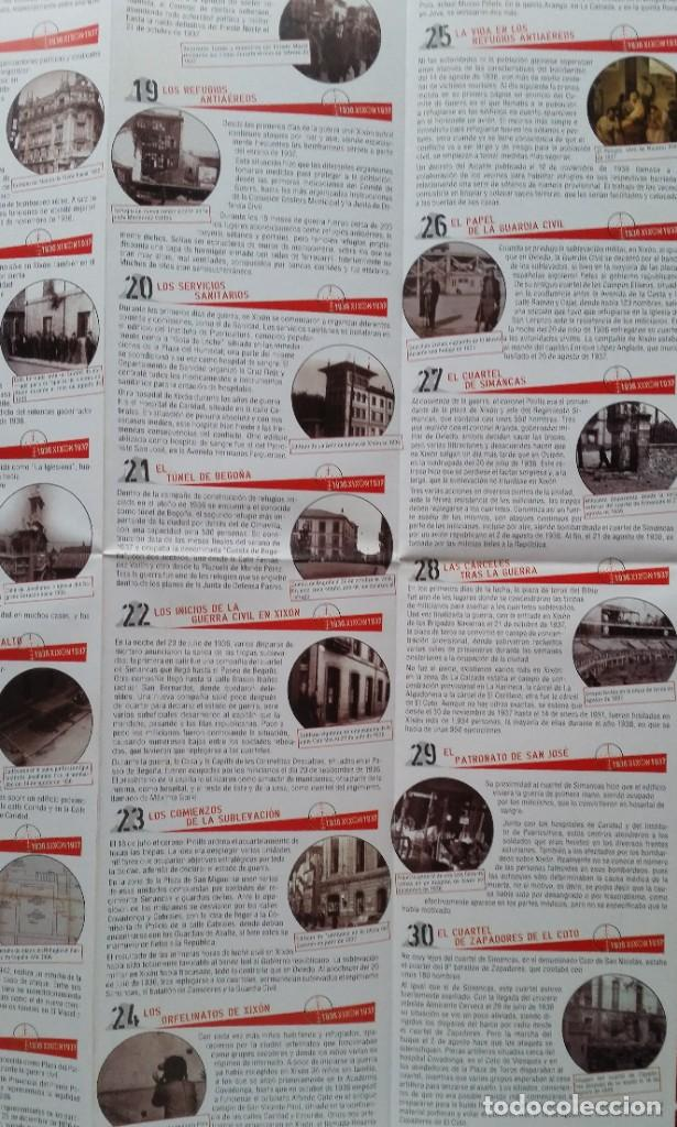 Otros: DESPLEGABLE UN RECORRIDO POR EL GIJON DE LA GUERRA CIVIL 1936 - 1937 - Foto 5 - 236028255