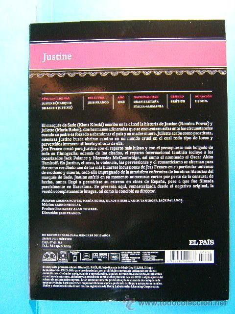 Peliculas: JUSTINE MARQUES DE SADE - JESS JESUS FRANCO - ROMINA POWER - CINE EROTICO - (1968) - 2009 - DVD ... - Foto 3 - 38683918