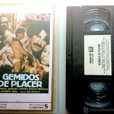 Peliculas: GEMIDOS DE PLACER -VHS- JESS FRANCO - CLASIFICADA S. Lote 50569670