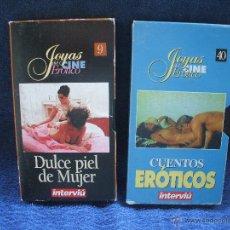 Peliculas: DOS VIDEOS VHS EROTICOS DE INTERVIU, PELICULAS DE VHS X DULCE PIEL DE MUJER Y CUENTOS EROTICOS.. Lote 53686798