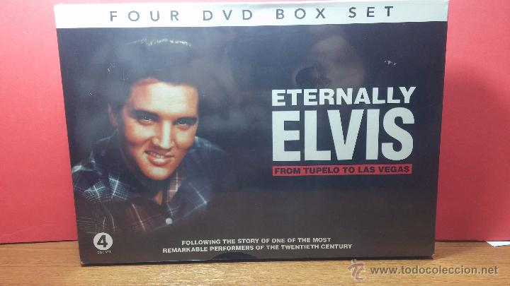 ETERNALLY ELVIS, 4 DVD, SIN DESPRECINTAR, QUE CUENTA LA VIDA DE ELVIS PRESLEY (Coleccionismo para Adultos - Películas)
