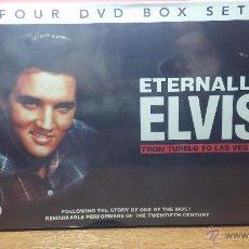 Peliculas: ETERNALLY ELVIS, 4 DVD, SIN DESPRECINTAR, QUE CUENTA LA VIDA DE ELVIS PRESLEY. Lote 54294384