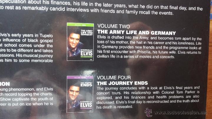 Peliculas: Eternally ELVIS, 4 DVD, sin desprecintar, que cuenta la vida de ELVIS PRESLEY - Foto 13 - 54294384
