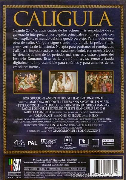 Peliculas: DVD CALIGULA EDICIÓN ESPECIAL COLECCIONISTAS - Foto 2 - 56109258