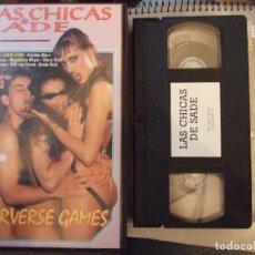 Peliculas: VHS - LAS CHICAS DE SADE - CAROL LYNN , KRISTINA MARX - PERVERSE GAMES. Lote 65031687