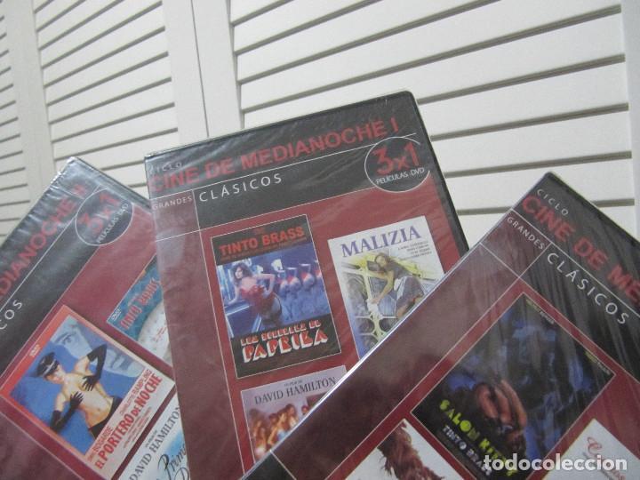 LOTE DE 9 PELICULAS EROTICAS EN 3 DVDS-CINE DE MEDIANOCHE-PRECINTADAS (Coleccionismo para Adultos - Películas)