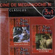 Peliculas: DVD CINE DE MEDIANOCHE III ¨CLAUDIA Y GRETA / SEXUALMENTE VUESTRO/PORNOLUJURIA¨ (PRECINTADO). Lote 90637685