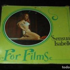 Peliculas: PELICULA SUPER 8 MM EROTICA SENSUAL ISABELLE DE FOR FILMS CAJA 13X13 DIÁMETRO BOBINA 12,5 VER FOTOS. Lote 99321103