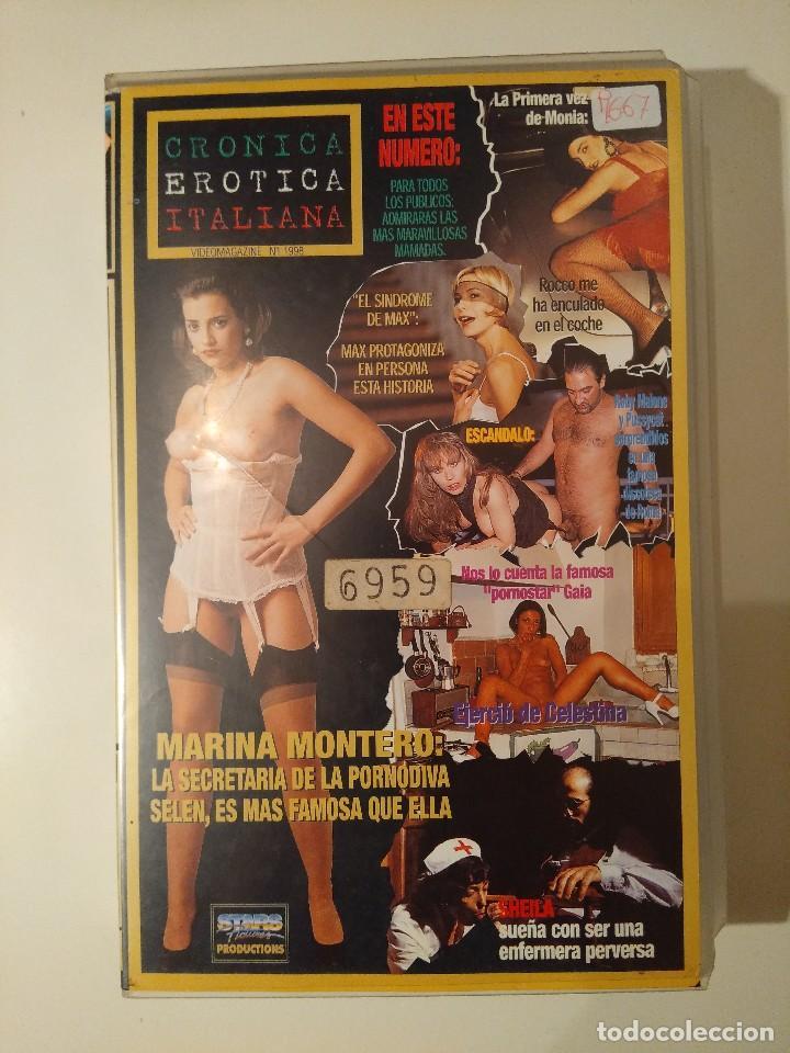 VHS EROTICO/CRONICA EROTICA ITALIANA. (Coleccionismo para Adultos -  Películas)