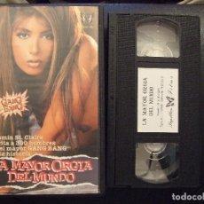 Peliculas: VHS - LA MAYOR ORGIA DEL MUNDO - JASMIN ST. CLAIRE - PAPILLON. Lote 120745991