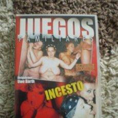 Peliculas: DVD. JUEGOS FAMILIARES. INCESTO.. Lote 269358768