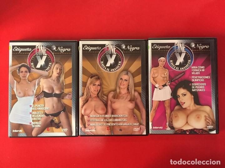 LOTE 011 - 3 DVDS INTERVIU ETIQUETA NEGRA - CINE ADULTO (Coleccionismo para Adultos - Películas)