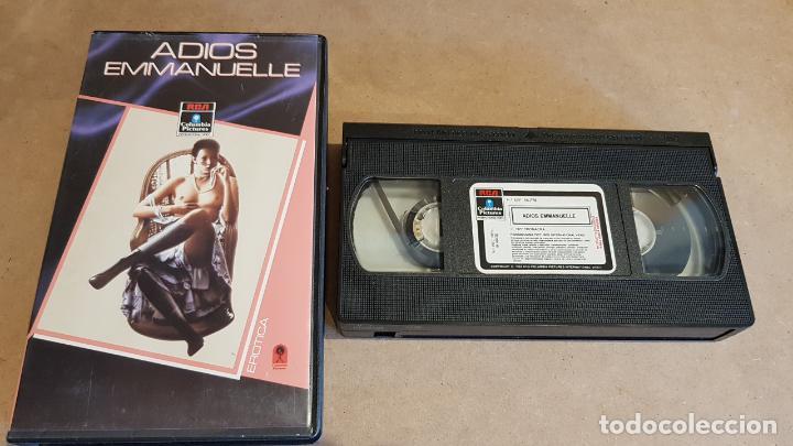 V.H.S. !! ADIOS EMMANUELLE / SYLVIA KRISTEL - UMBERTO ORSINI / RCS-1984 / BUENA CALIDAD. (Coleccionismo para Adultos - Películas)