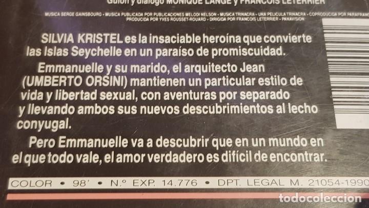 Peliculas: V.H.S. !! ADIOS EMMANUELLE / SYLVIA KRISTEL - UMBERTO ORSINI / RCS-1984 / BUENA CALIDAD. - Foto 5 - 157821770