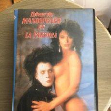 Peliculas: VHS 1993 EDUARDO MANOSPENES (VERSIÓN EROTICA DE EDUARDO MANOSTIJERAS). Lote 157838234