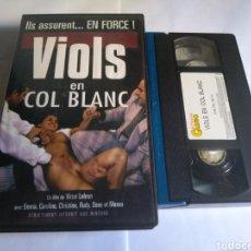 Peliculas: VHS-(X) VIOLS EN COL BLANCO, PRODUCCIÓN FRANCESA. Lote 162133050