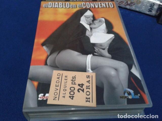 VHS EROTICA ( EL DIABLO EN EL CONVENTO )NEGRO Y AZUL - MARIO SALIERI - SILVIA FORRER, YVETE BALLAND (Coleccionismo para Adultos - Películas)