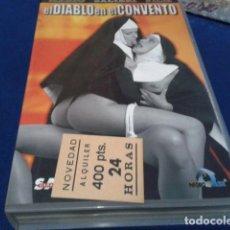 Peliculas: VHS EROTICA ( EL DIABLO EN EL CONVENTO )NEGRO Y AZUL - MARIO SALIERI - SILVIA FORRER, YVETE BALLAND. Lote 168223540