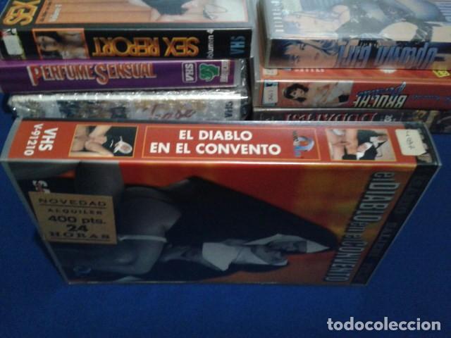 Peliculas: VHS EROTICA ( EL DIABLO EN EL CONVENTO )NEGRO Y AZUL - MARIO SALIERI - SILVIA FORRER, YVETE BALLAND - Foto 2 - 168223540