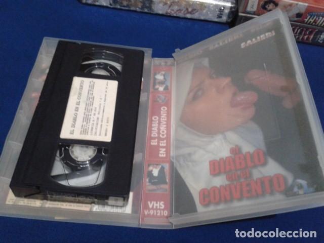 Peliculas: VHS EROTICA ( EL DIABLO EN EL CONVENTO )NEGRO Y AZUL - MARIO SALIERI - SILVIA FORRER, YVETE BALLAND - Foto 4 - 168223540