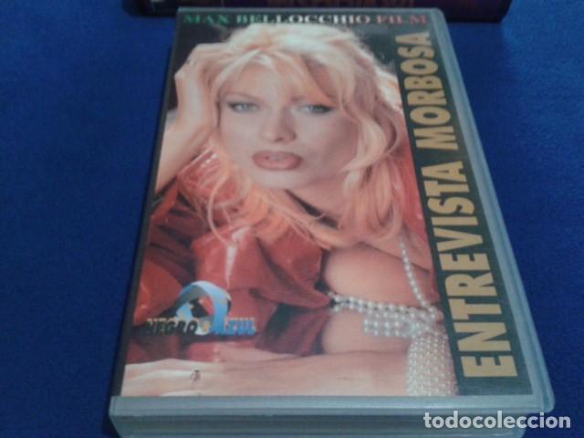 VHS ADULTOS X ( ENTREVISTA MORBOSA ) NEGRO & AZUL MAX BELLOCCHIO: PENELOPE VALENTINI, TIKA BISSO (Coleccionismo para Adultos - Películas)