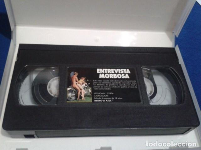 Peliculas: VHS ADULTOS X ( ENTREVISTA MORBOSA ) NEGRO & AZUL MAX BELLOCCHIO: PENELOPE VALENTINI, TIKA BISSO - Foto 4 - 169697564