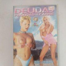 Peliculas: VHS EROTICO/DEUDAS PAGADAS CON CARNE/NIKKI ANDERSON.. Lote 169894576