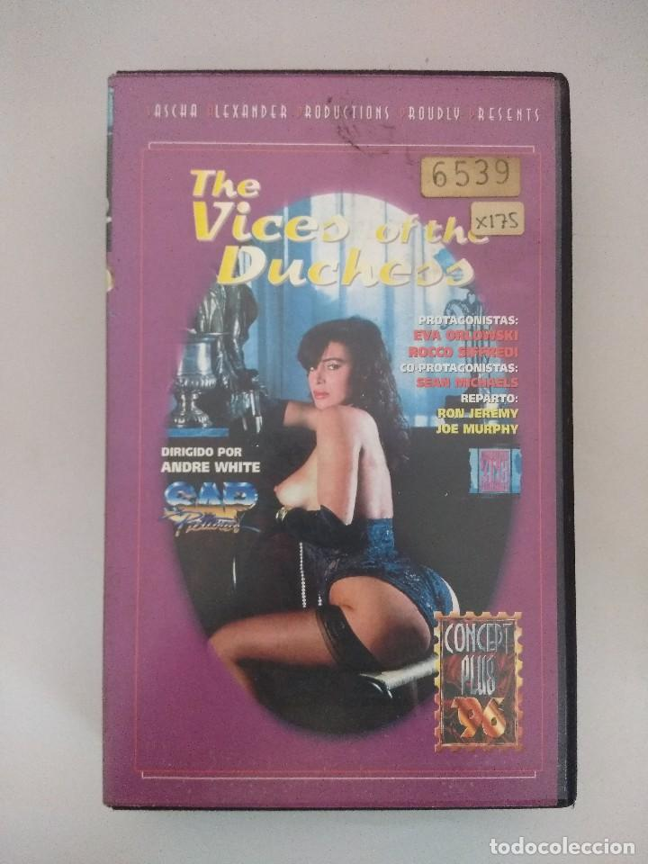 VHS EROTICO/THE VICES OF THE DUCHEES/ROCCO SIFFREDI/EVA ORLOWSKI. (Coleccionismo para Adultos - Películas)