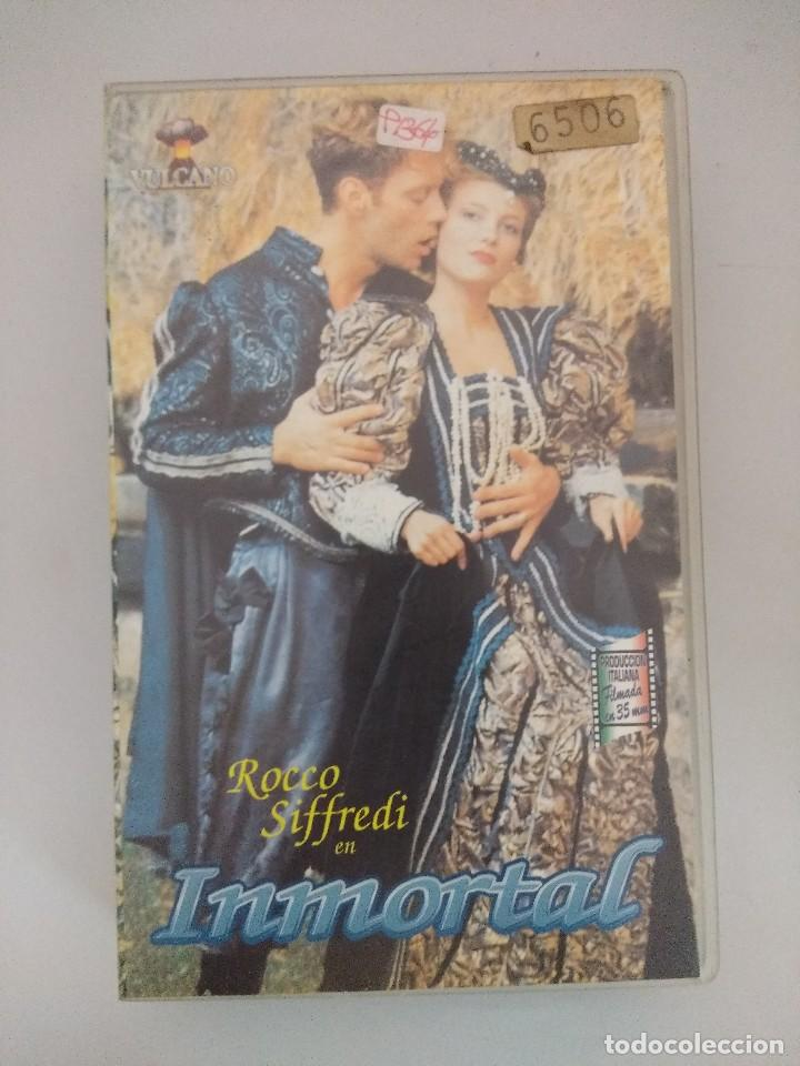 VHS EROTICO/INMORTAL/ROCCO SIFFREDI/DOMENIKA BAUMANOVA. (Coleccionismo para Adultos - Películas)