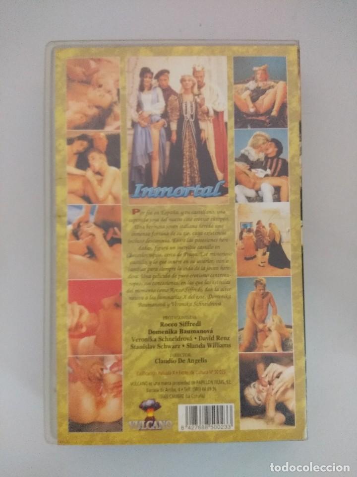 Peliculas: VHS EROTICO/INMORTAL/ROCCO SIFFREDI/DOMENIKA BAUMANOVA. - Foto 2 - 171336464