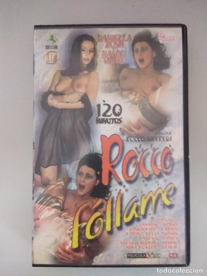 VHS EROTICO/ROCCO FOLLAM................/NACHO VIDAL. (Coleccionismo para Adultos - Películas)