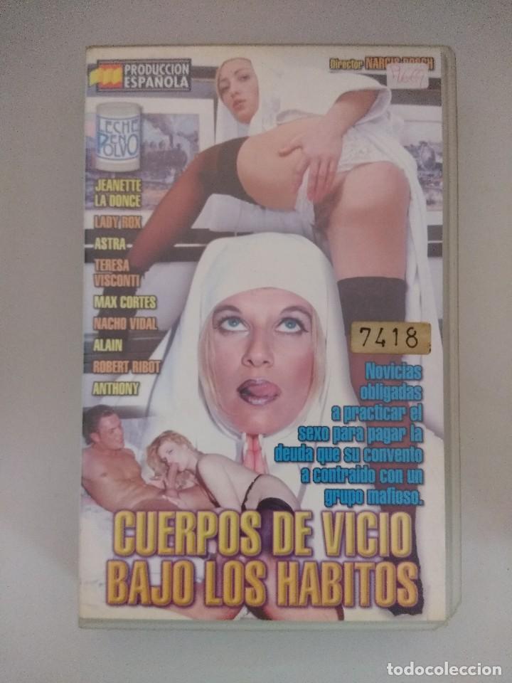 VHS EROTICO/CUERPOS DE VICIO BAJO LOS HABITOS/NACHO VIDAL. (Coleccionismo para Adultos - Películas)