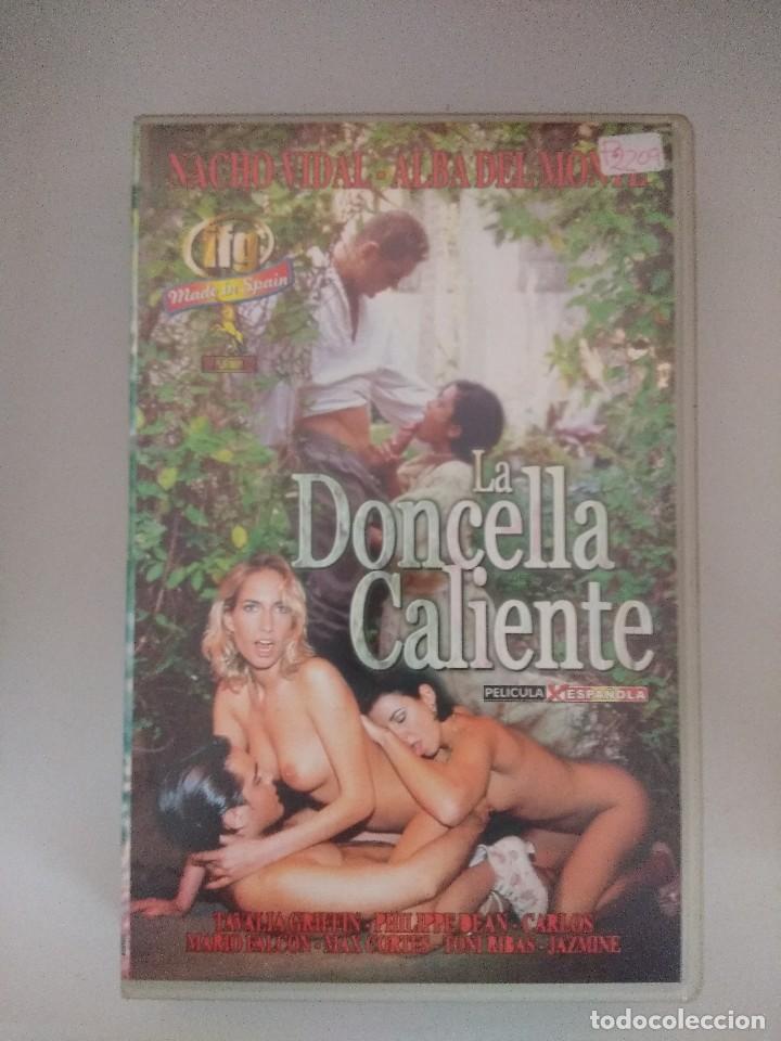 VHS EROTICO/LA DONCELLA CALIENTE/NACHO VIDAL. (Coleccionismo para Adultos - Películas)