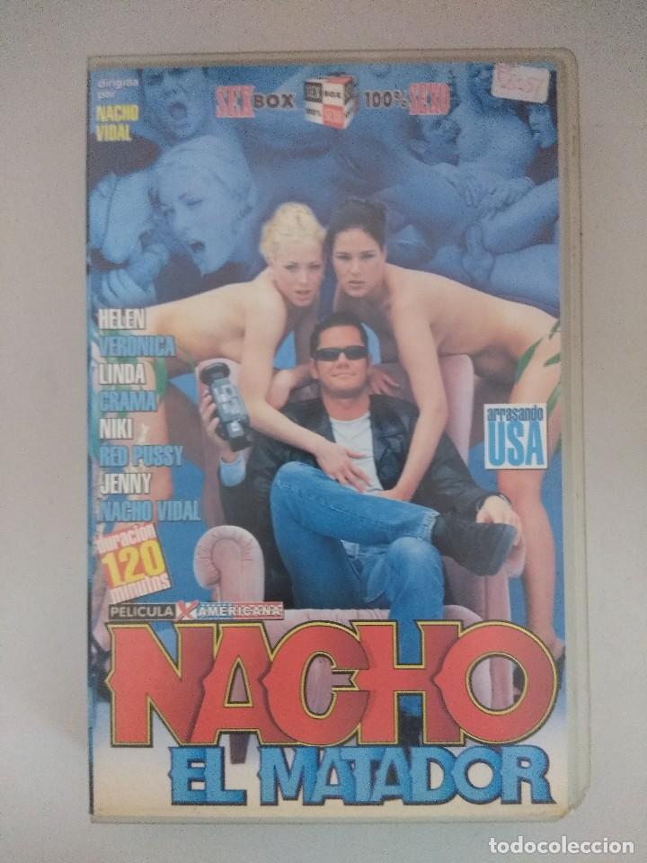 VHS EROTICO/NACHO EL MATADOR/NACHO VIDAL. (Coleccionismo para Adultos - Películas)