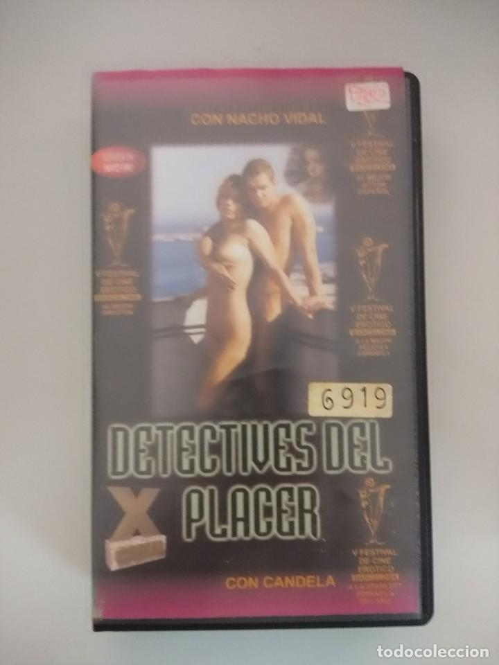 VHS EROTICO/DETECTIVES DEL PLACER/NACHO VIDAL/CANDELA. (Coleccionismo para Adultos - Películas)
