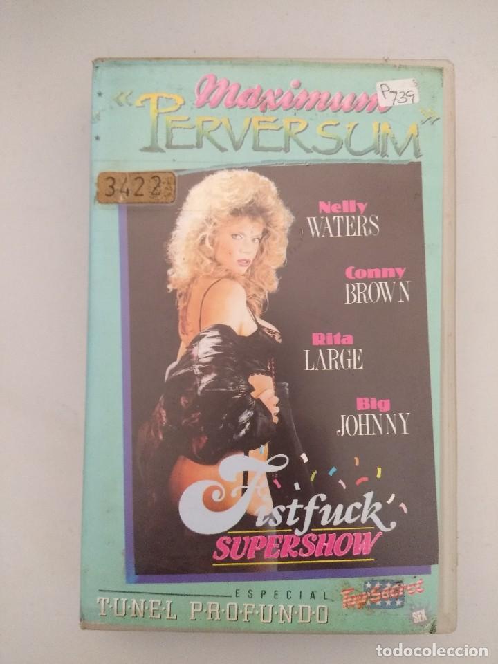 VHS EROTICO/TUNEL PROFUNDO/NELLY WATERS/ROCCO SIFFREDI. (Coleccionismo para Adultos - Películas)