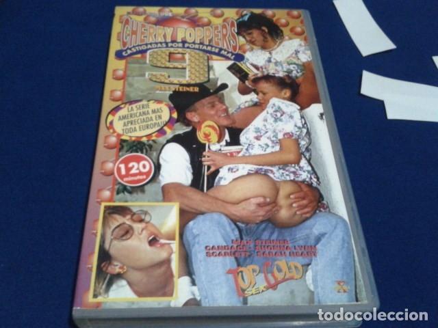 VHS X EROTICA TOP GOLD SEX ( CHERRY POPPERS - CASTIGADAS POR PORTARSE MAL 9 ) DIRECTOR MAX STEINER (Coleccionismo para Adultos - Películas)