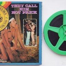 Filmes: THEY CALL HIM HOT PRICK. (LO LLAMAN PINCHAZO CALIENTE) CAJA 23,5 X 23,5 CMS. SUPER 8. 100 METROS. . Lote 173207094