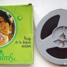 Filmes: STRIP DE LA FOGOSA ZÍNGARA. CAJA 13,5 X 13,5 CMS. PORNO SUPER 8. 60 METROS.. Lote 173208852