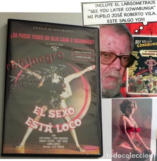 DVD PELÍCULAS EL SEXO ESTÁ LOCO SEE YOU LATER COWABUNGA PELÍCULA JESÚS FRANCO JESS LINA ROMAY AIRBAG (Coleccionismo para Adultos - Películas)