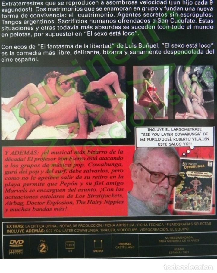 Peliculas: DVD PELÍCULAS EL SEXO ESTÁ LOCO SEE YOU LATER COWABUNGA PELÍCULA JESÚS FRANCO JESS LINA ROMAY AIRBAG - Foto 2 - 174432118