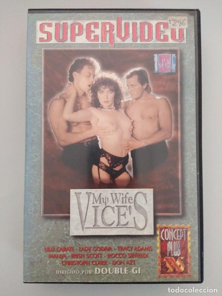 VHS EROTICO/MY WIFE VICES/LILLI CARATI/MANYA-ROCCO SIFFREDI. (Coleccionismo para Adultos - Películas)