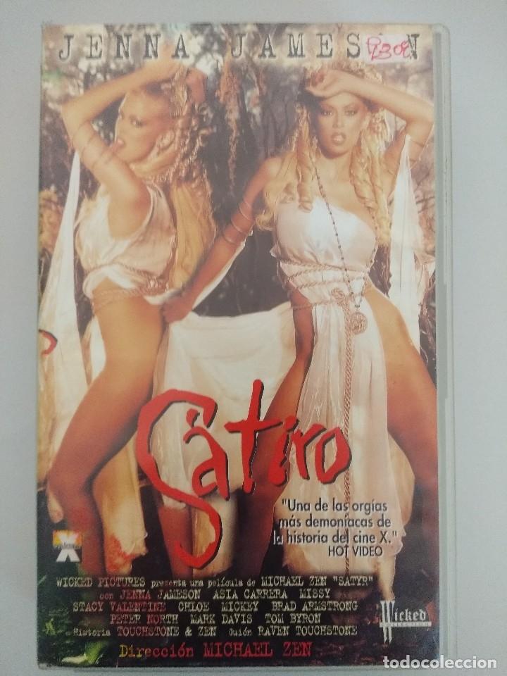 VHS EROTICO + POSTER PUBLICITARIO/SATIRO/JENNA JAMESON-ASIA CARRERA. (Coleccionismo para Adultos - Películas)