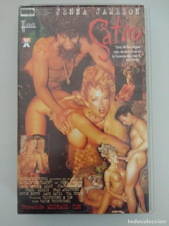 Peliculas: VHS EROTICO + POSTER PUBLICITARIO/SATIRO/JENNA JAMESON-ASIA CARRERA. - Foto 2 - 179230450