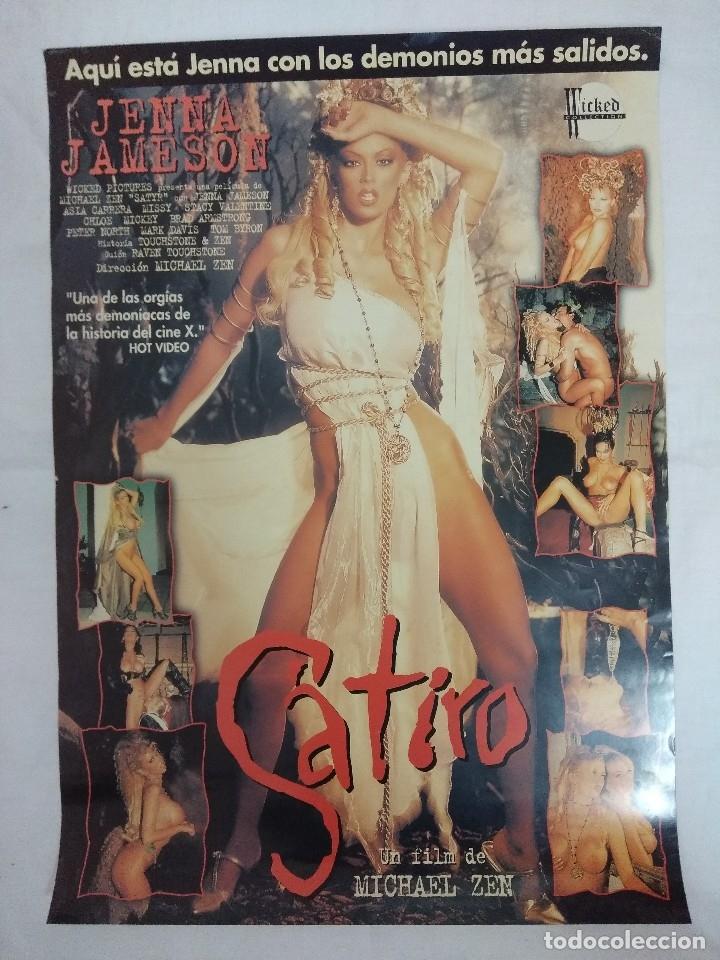 Peliculas: VHS EROTICO + POSTER PUBLICITARIO/SATIRO/JENNA JAMESON-ASIA CARRERA. - Foto 3 - 179230450