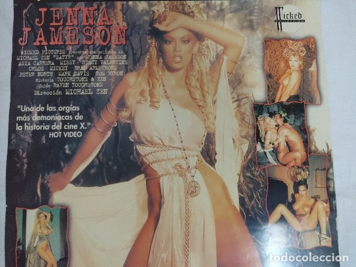 Peliculas: VHS EROTICO + POSTER PUBLICITARIO/SATIRO/JENNA JAMESON-ASIA CARRERA. - Foto 5 - 179230450