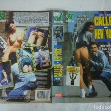 Films: CARATULA EROTICA PARA VHS/EN LAS CALLES DE NEW YORK/SOLO CARATULA. . Lote 179238880